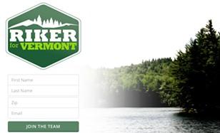 Brandon Riker's campaign website - SCREENSHOT: BRANDONRIKER.COM