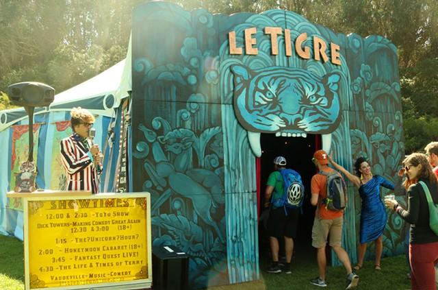 The Le Tigre tent - COURTESY OF TRACE MONTGOMERY