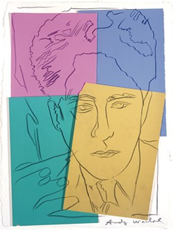 """Jean Cocteau,"" Andy Warhol - COURTESY OF THE HYDE COLLECTION"