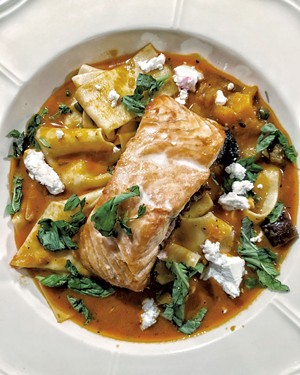 Roasted salmon with pappardelle - COURTESY OF CHIP NATVIG