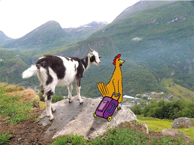 """""""Goat and Hen"""" - IMAGE COURTESY OFJAMES VALASTRO"""