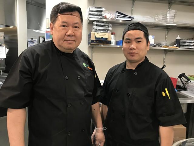 Ryan Kang (left) and Phong Shin of Hissho Sushi - SALLY POLLAK