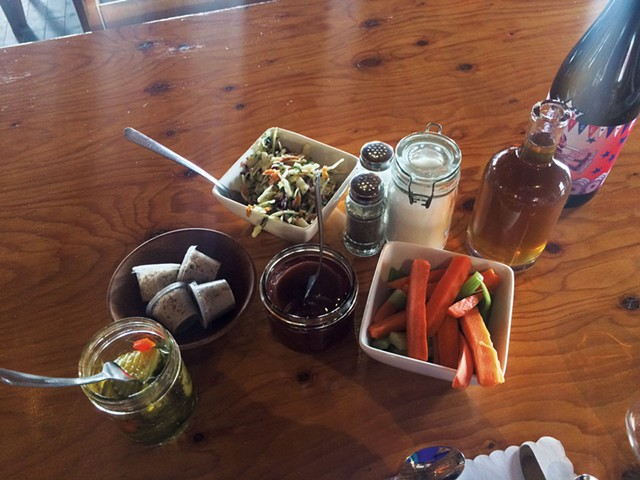 Slaw, syrup, crudités, pickled beets, relish and cretons - MOLLY ZAPP