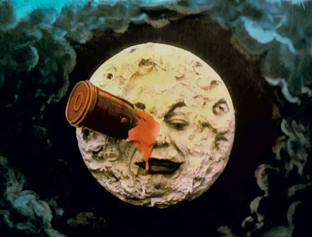 """Still from """"A Trip to the Moon"""" by Georges Méliès"""