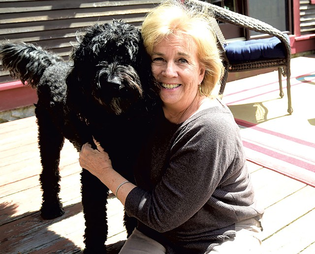 Marilyn Skoglund and her dog, johnny - JEB WALLACE-BRODEUR