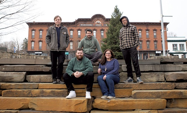 The Waking Windows team, from left: Paddy Reagan, Brian Nagle, Matt Rogers, Ali Nagle and Nick Mavodones - COURTESY OF WAKING WINDOWS
