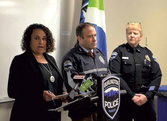 Shireen Hart, Brandon del Pozo and Jan Wright discussing use-of-force incidents - DEREK BROWER