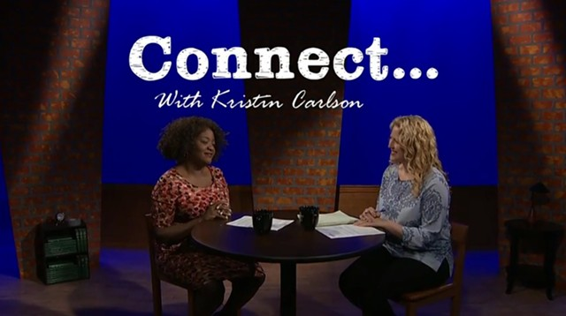 """Mary Brown-Guillory and Kristin Carlson in the first episode of """"Connect"""" - SCREENSHOT"""