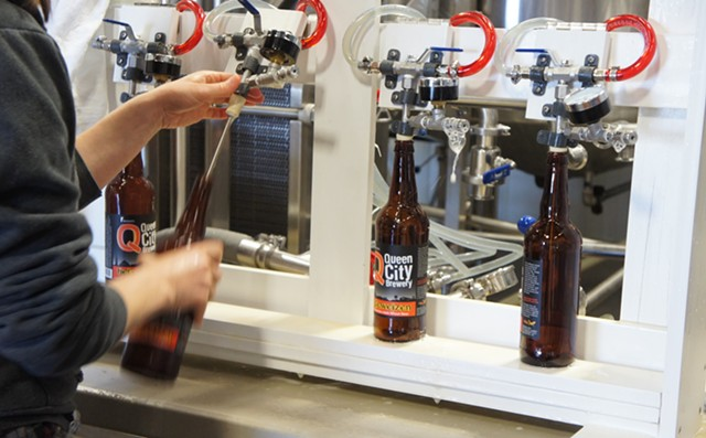 Bottling at Queen City Brewery - STACEY BRANDT