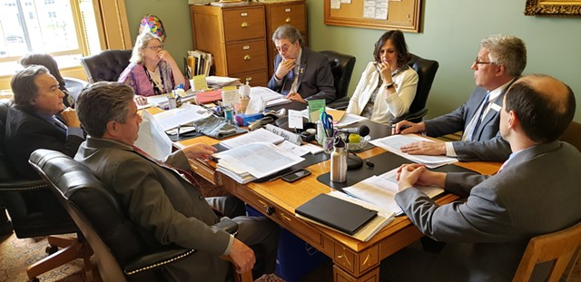 A conference committee of the Vermont legislature meets to discuss the adjutant general selection process. - KEVIN MCCALLUM