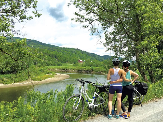 COURTESY OF LAMOILLE VALLEY BIKE TOURS