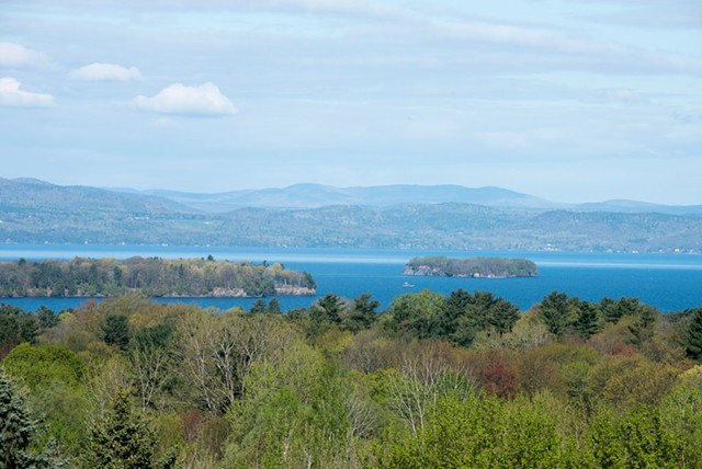 View of Lake Champlain from Burlington - CALEB KENNA