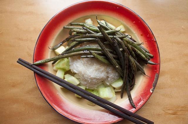 Cucumber, lemon, rice, beans - HANNAH PALMER EGAN