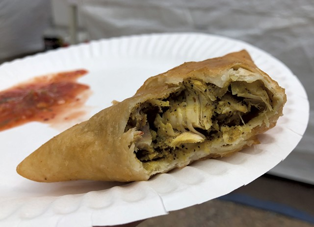 Spicy Chicken Samosa from Pak-Afghan Foods - DAVID HOLUB