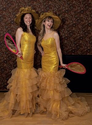 Heather Jones as Dorothée (left) and Abigail Paschke as Noémie - Costumes by Debbie Anderson - PHOTO BY MIKE KELLOGG
