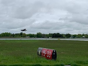 An F-35 landing at Burlington International Airport - COURTESY: GENE RICHARDS