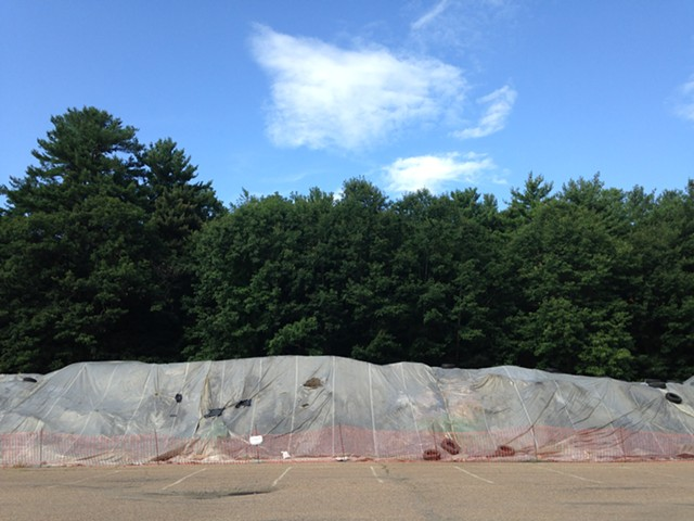 The dirt pile at Burlington's Leddy Park - MOLLY WALSH