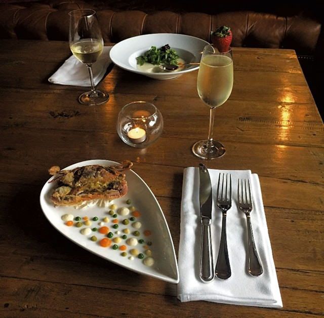 A meal at the Pitcher Inn - COURTESY OF PITCHER INN
