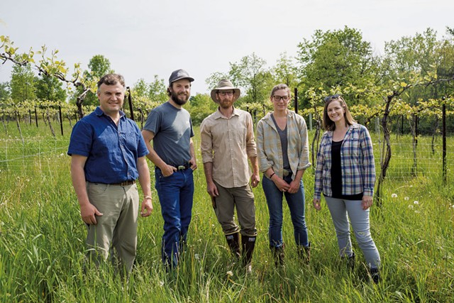 From left: Juan Alvez, Mike Kirk, Ethan Joseph, Marion Bourgault-Ramsay and Meredith Niles - OLIVER PARINI