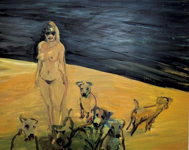 """Yellow Sands 1"" by Deborah Brown - COURTESY OF JUNE ANDERSON"