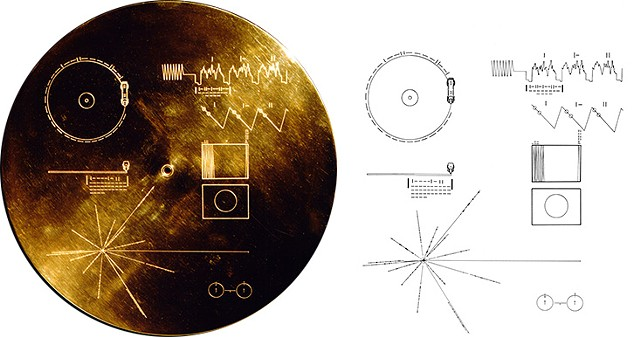 Early diagrams of the Golden Record - COURTESY OF TRISH DENTON