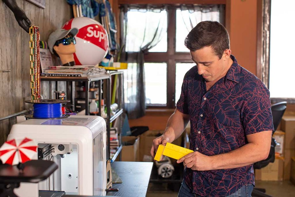 Benedetto preparing for a 3D print at his Hood Plant headquarters in Burlington - LUKE AWTRY