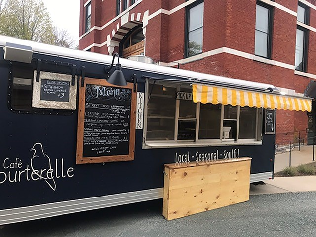 The Tourterelle truck in front of Town Hall Theater - COURTESY OF TOWN HALL THEATER