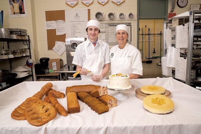 Max Frechette with chef instructor Paula Bystrzycki - DON WHIPPLE