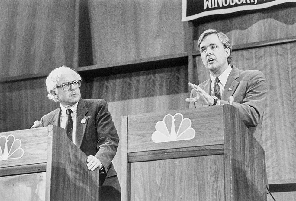 Bernie Sanders and then-representative Peter Smith debating in Burlington on October 22, 1990 - LAURA PATTERSON/CQ ROLL CALL VIA AP IMAGES