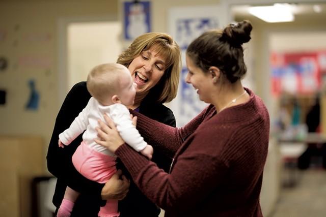 Trisha Scharf, left, owner of Children Unlimited in Williston - COURTESY OF LET'S GROW KIDS