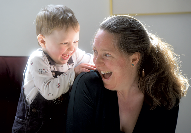 Helen Sullivan plays with son Eric - JEB WALLACE-BRODEUR