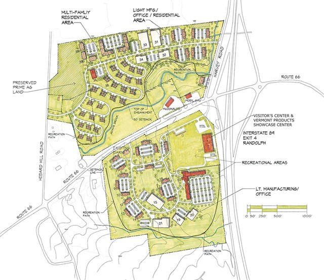 Proposed plan for the Green Mountain Center - FILE