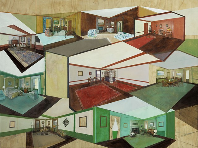 """""""Collected Rooms"""" - COURTESY OF THE ARTIST AND SPERONE WESTWATER"""