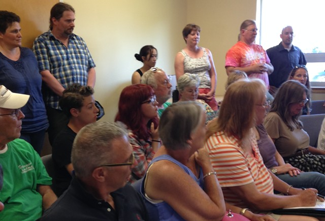 The crowd at the parks commission meeting - MOLLY WALSH