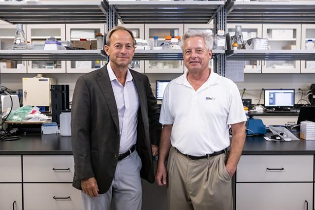 Briar and Adam Alpert at BioTek's Winooski headquarters - LUKE AWTRY