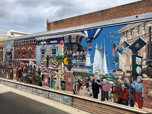"""Everyone Loves a Parade!"" mural in downtown Burlington - SADIE WILLIAMS"