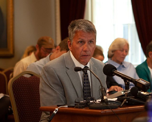 Brad Keating, Dairy Farmers of America's COO for the Northeast region, testifying Monday - KEVIN MCCALLUM