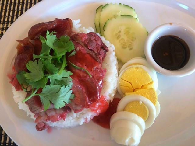 Khao moo dang, $9.50 - ALICE LEVITT