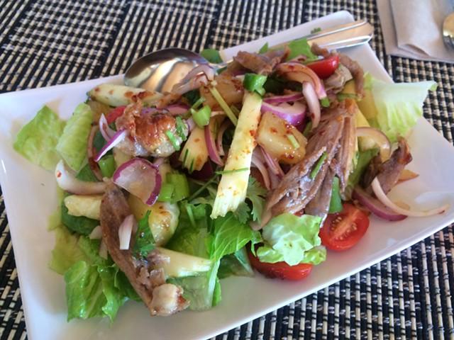 Duck salad, $12 - ALICE LEVITT