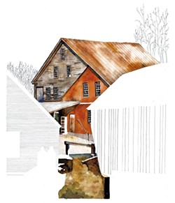 Saw and grist mill, Tunbridge