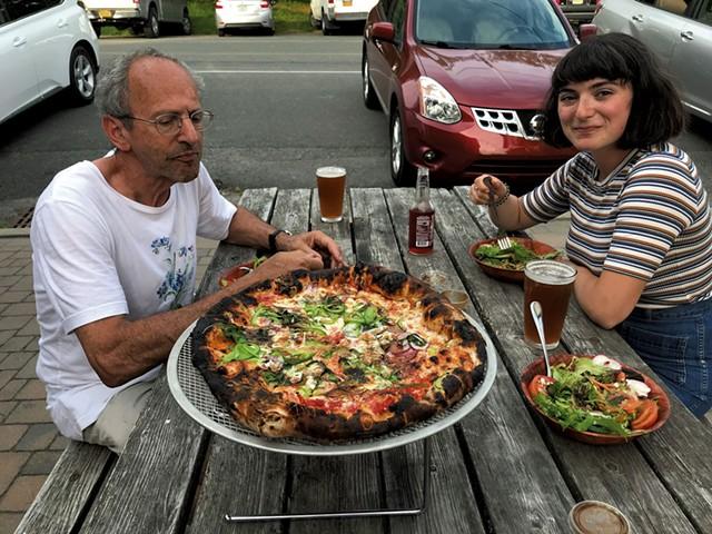 David Goldwasser and Lucy Weiss at Dogwood Bread - SALLY POLLAK