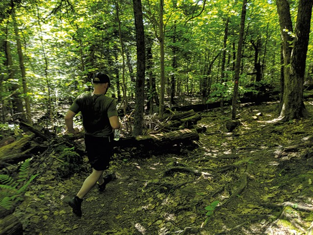 Adam Valastro running down Prospect Mountain - COURTESY OF TAYLOR DOBBS