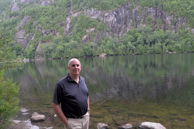 Keene Town Supervisor Joseph P. Wilson Jr. at Chapel Pond, a popular swimming spot - MOLLY WALSH