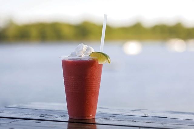 Strawberry daiquiri at the Steamship Pier Bar & Grill - FILE: OLIVER PARINI