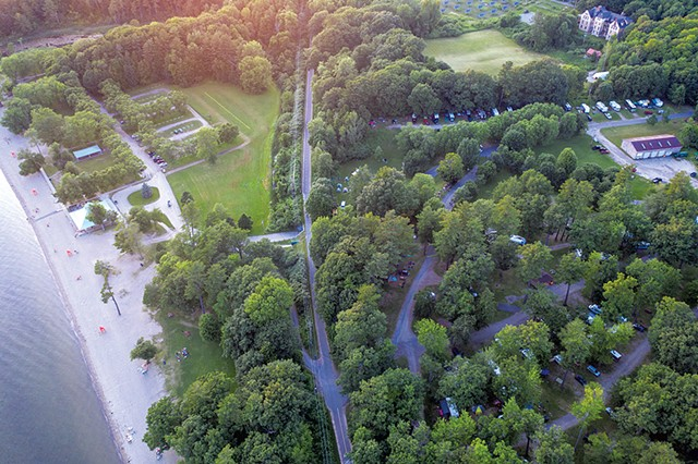 Aerial view of the campground and North Beach - JAMES BUCK