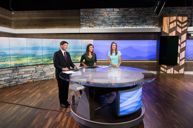 News staff in NBC5's new South Burlington studio - NBC-5