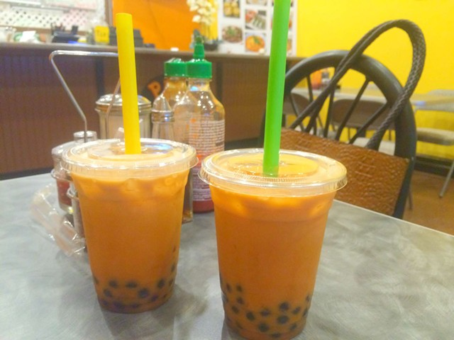 Thai iced bubble tea, $2.49 - ALICE LEVITT