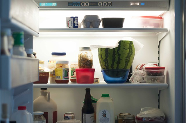 There's a watermelon in my fridge. - HANNAH PALMER EGAN