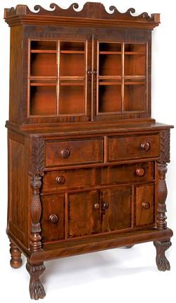 Oramel Partridge sideboard/bookcase, 1829 - COURTESY OF THE SHELBURNE MUSEUM