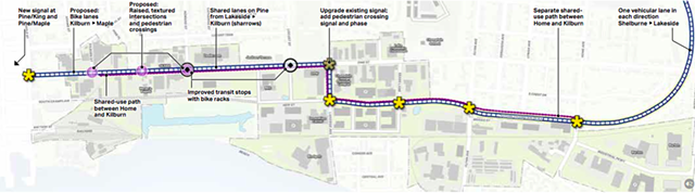 A rendering of the Champlain Parkway depicted in the draft Plan BTV South End - CITY OF BURLINGTON